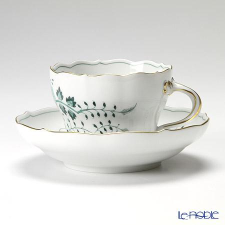 マイセン(Meissen) インドの鳥 グリーン 341310/00582 コーヒーカップ&ソーサー 200cc