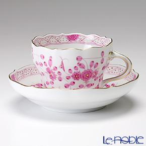 マイセン(Meissen) インドの華 ピンク 343410/00582 コーヒーカップ&ソーサー 200cc