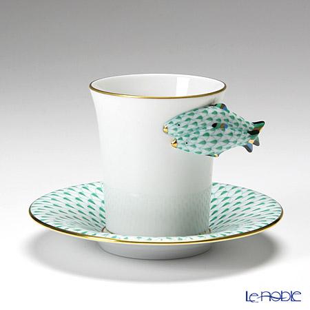 ヘレンド QH Collection QH-VHV 04913-0-00 モカカップ&ソーサー グリーン