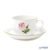 Augarten 'Winner Flower - Wild Rose' Pink [Schubert Shape] Coffee Cup & Saucer 200ml