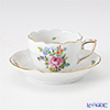 Herend Bouquet de Saxe Moccacup with saucer 100 ml, BS-10 00711-0-00