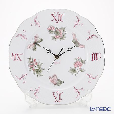 ヘレンド ヴィクトリア・プラチナ VBOG-X1-PT 00527-0-47 ウォールクロック 28cm
