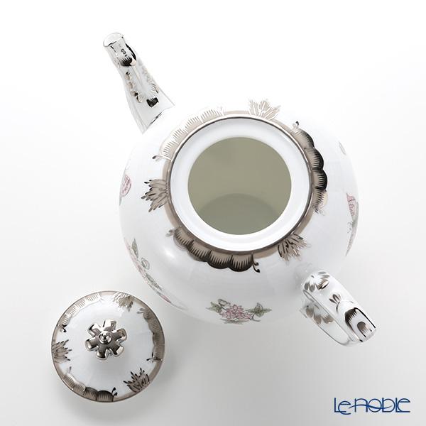 ヘレンド ヴィクトリア・プラチナ VBOG-X1-PT 00606-0-91ティーポット(クラウン) 800cc