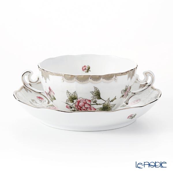 ヘレンド ヴィクトリア・プラチナ VBOG-X1-PT 00718-0-00/702 スープカップ&ソーサー 180cc