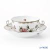 Herend 'Queen Victoria Platinum / Victoria avec Bord en Or' VBOG-X1-PT 00718-0-00/702 Soup Cup & Saucer 180ml