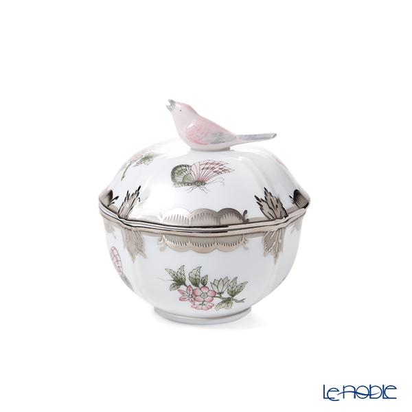 ヘレンド ヴィクトリア・プラチナ VBOG-X1-PT 小物入れ(バード) 04246-0-05