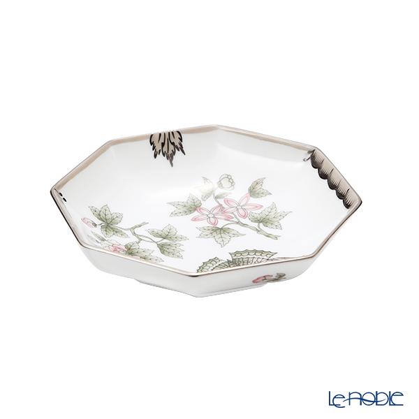ヘレンド ヴィクトリア・プラチナ VBOG-X1-PT 小皿/豆皿(オクタゴナル)11cm 04307-1-00