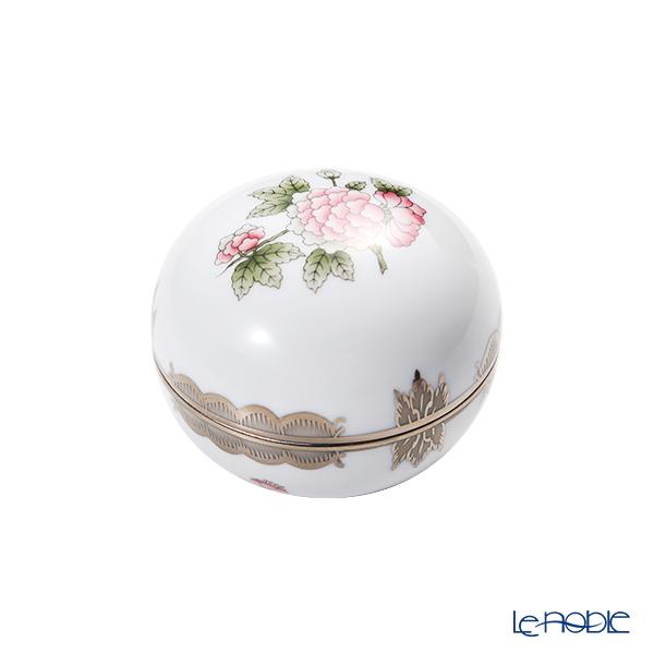 ヘレンド ヴィクトリア・プラチナ VBOG-X1-PT ラウンドボックス 8cm 06033-0-00