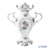 Herend 'Queen Victoria Platinum / Victoria avec Bord en Or' VBOG-X1-PT 06532-0-00 Vase with handles H25.5cm