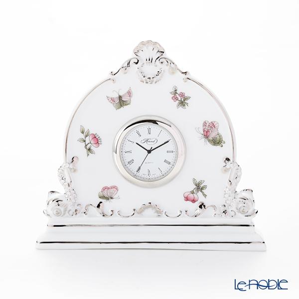 ヘレンド ヴィクトリア・プラチナ VBOG-X1-PT 08083-0-00 テーブルクロック 12.5cm