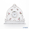 Herend 'Queen Victoria Platinum / Victoria avec Bord en Or' VBOG-X1-PT 08083-0-00 Table Clock 14xH12.6cm