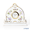 Herend 'Royal Garden Green & Purple / Email Victoria' EVICT1 08083-0-00 Desk Clock H13cm