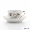 Herend Royal Garden Flower Green / Email Victoria Fleur EVICTF1 00711-0-00 Mocha Cup & Saucer 100ml