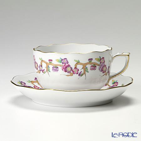 ヘレンド ヴィクトリア PDVICT1 20724-0-00 ティーカップ&ソーサー 200cc ピンク