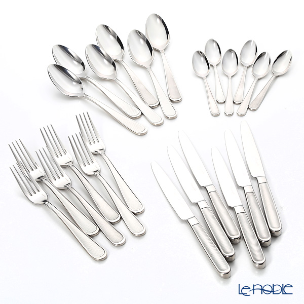 Christofle 'Concorde' 2413299 [Stainless Steel] Table Spoon, Fork, Knife, Coffee Spoon (set of 24 for 6 personswith Case)