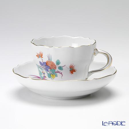 マイセン(Meissen) インドの花と蝶 395110/00582 コーヒーカップ&ソーサー 200cc