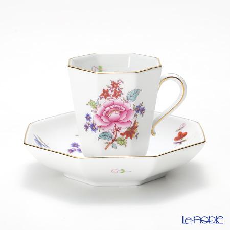 ヘレンド 南京ブーケ 04307-0-00 モカカップ&ソーサー(オクタゴナル)