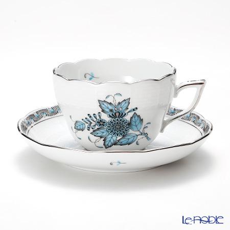 ヘレンド アポニーターコイズプラチナ 00730-0-00 ティーカップ&ソーサー(兼用) 200cc