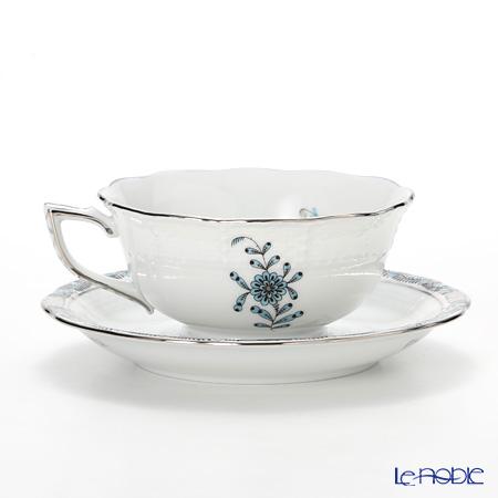 ヘレンド アポニーターコイズプラチナ 00734-0-00ティーカップ&ソーサー(ロウ)