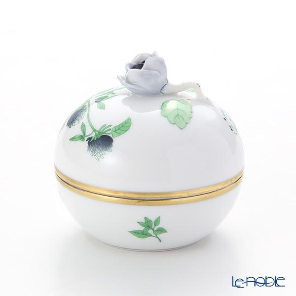 Herend 'Herb Garden (In-glaze) / Jardin Des Herbes' JDH 06033-0-09 Round Box (Rose knob) H7.5cm