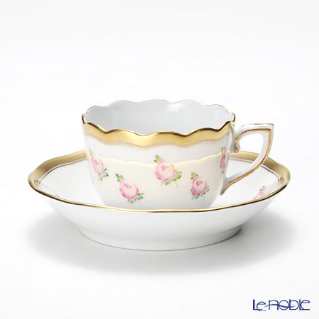 ヘレンド 朝露の小薔薇 PTRA 20711-0-00 モカカップ&ソーサー 150cc