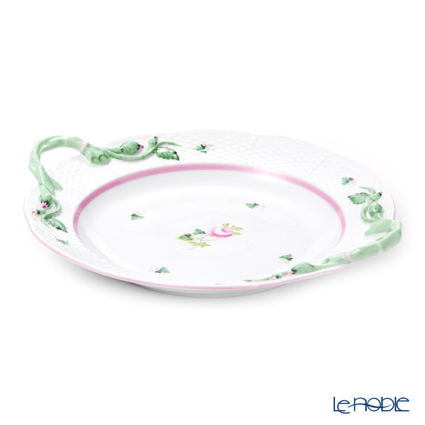 Herend 'Vienna Rose Pink / Vieille Rose de Herend' VRH-X4 00175-0-00 Cake Plate (with handles) 28.5x25cm