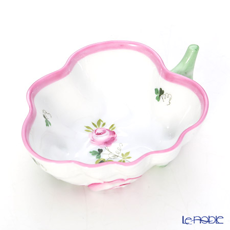 Herend 'Vienna Rose Pink / Vieille Rose de Herend' VRH-X4 00492-0-00 Sugar Bowl (Leaf shape) 10.5cm