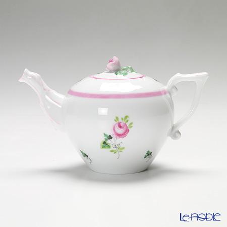 ヘレンド ウィーンのバラ ピンク 00608-0-09/605 ティーポット(ローズ) 400cc