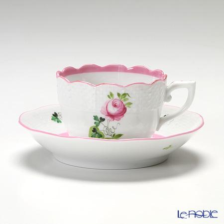 ヘレンド ウィーンのバラ ピンク 00711-0-00/711 モカカップ&ソーサー 100cc