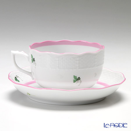 ヘレンド ウィーンのバラ ピンク 00724-0-00ティーカップ&ソーサー 200cc