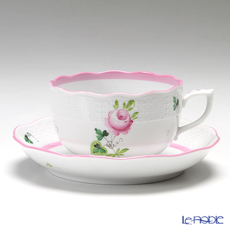 Herend 'Vienna Rose Pink / Vieille Rose de Herend' VRH-X4 00724-0-00 Tea Cup & Saucer 200ml