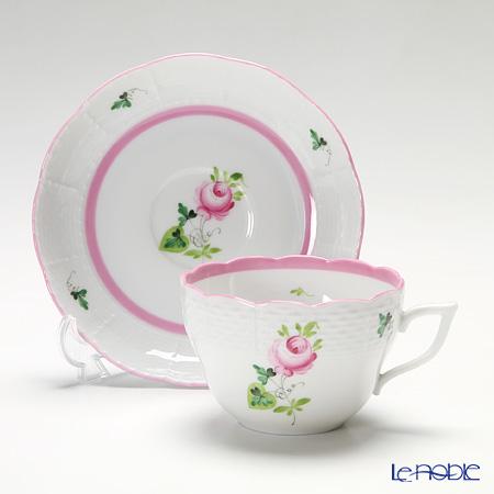 ヘレンド ウィーンのバラ ピンク 00730-0-00/730ティーカップ&ソーサー(兼用) 200cc