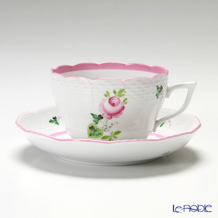 Herend 'Vienna Rose Pink / Vieille Rose de Herend' VRH-X4 00730-0-00/730 Tea / Coffee Cup (combined) & Saucer 200ml