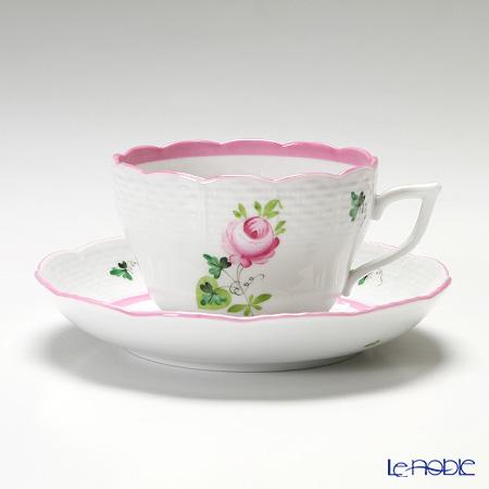 ヘレンド ウィーンのバラ ピンク 00730-0-00/706 ティーカップ&ソーサー(兼用) 200cc