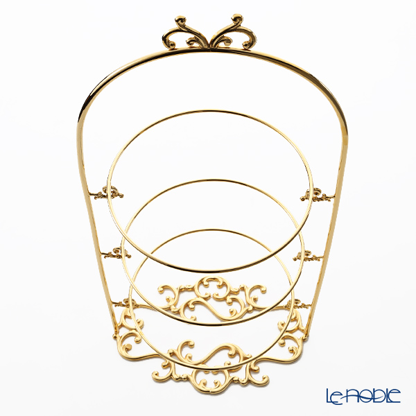 Cre Art 'Butterfly top' Gold ME0077 3 Tier Cake Stand H46.5cm