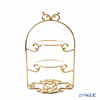 Cre Art 'Butterfly top' Gold ME0078 2 Tier Cake Stand H30cm