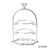 Cre Art 'Heart top' Silver LZ8562 2 Tier Cake Stand H28cm