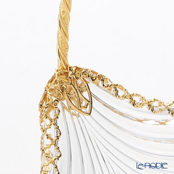 Cre Art 'MAMBO Gallery' Gold Decor CS11449 Basket (Leaf shape) 26x21cm