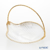 Cre Art 'MAMBO Gallery' Gold Decor CS11449 Basket (Leaf shape) 26x21cm
