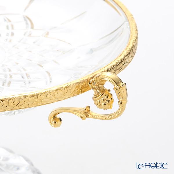 Cre Art 'Center Piece / Opera - Marco' Gold Decor CT11099 Pedestal Bowl H10.5cm