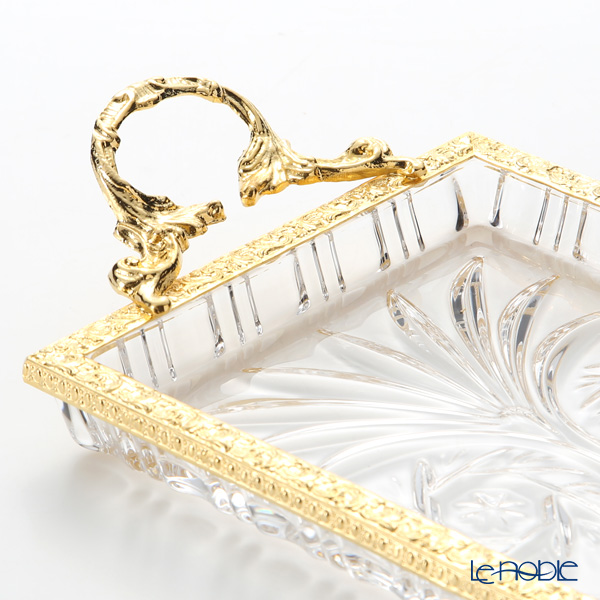 Create a rectangular tray gold handles STK643 Comet