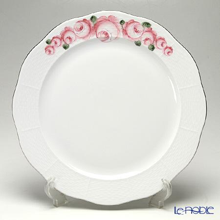 ヘレンド ウィーンのバラ プラチナ 00156-0-00 プレート 33cm
