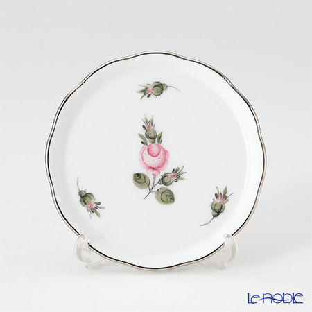 ヘレンド ウィーンのバラ プラチナ 00341-0-00 プレート 10cm
