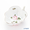 Herend Vienna Rose Platinum / Vieille Rose de Herend Platinum Sugar Bowl, leaf shape 9 cm VGR-PT 00492-0-00