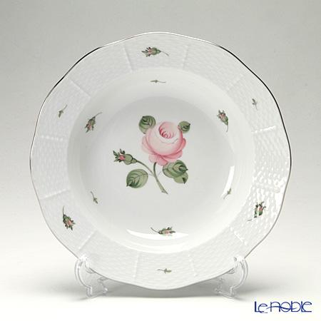 ヘレンド ウィーンのバラ プラチナ 00501-0-00 スーププレート 23cm