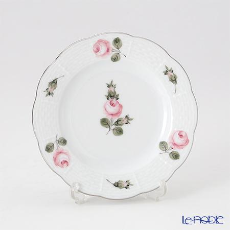 ヘレンド ウィーンのバラ プラチナ 00512-0-00 プレート 12.5cm