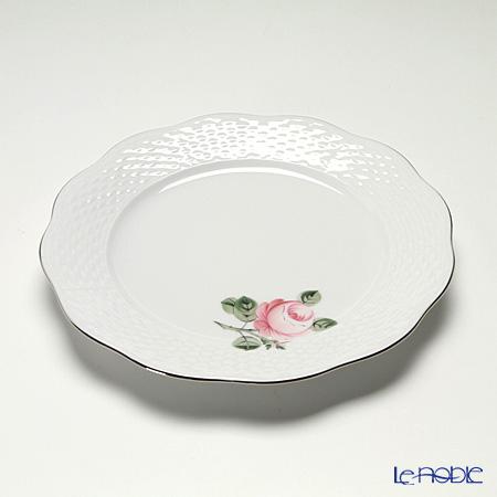 ヘレンド ウィーンのバラ プラチナ 00517-0-00プレート 19cm