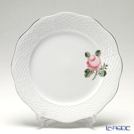 ヘレンド ウィーンのバラ プラチナ 00517-0-00 プレート 19cm