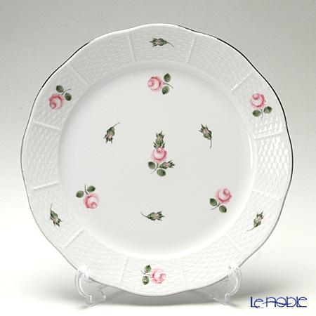 ヘレンド ウィーンのバラ プラチナ 00524-0-00 プレート 25cm