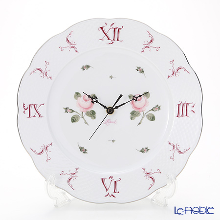 Herend Vienna Rose Platinum / Vieille Rose de Herend Platinum VGR-PT 00527-0-00 Wall Clock 27.8cm